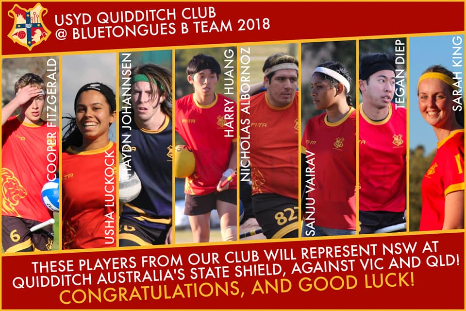 cooper fitzgerald, usha luckock, haydn johannson, harry huang, nicholas albornoz, sanju vairav, tegan diep, sarah king, ajantha abey, and ashan abey - ten usyd players selected to play for the nsw blue tongues B team in the 2018 state shield.
