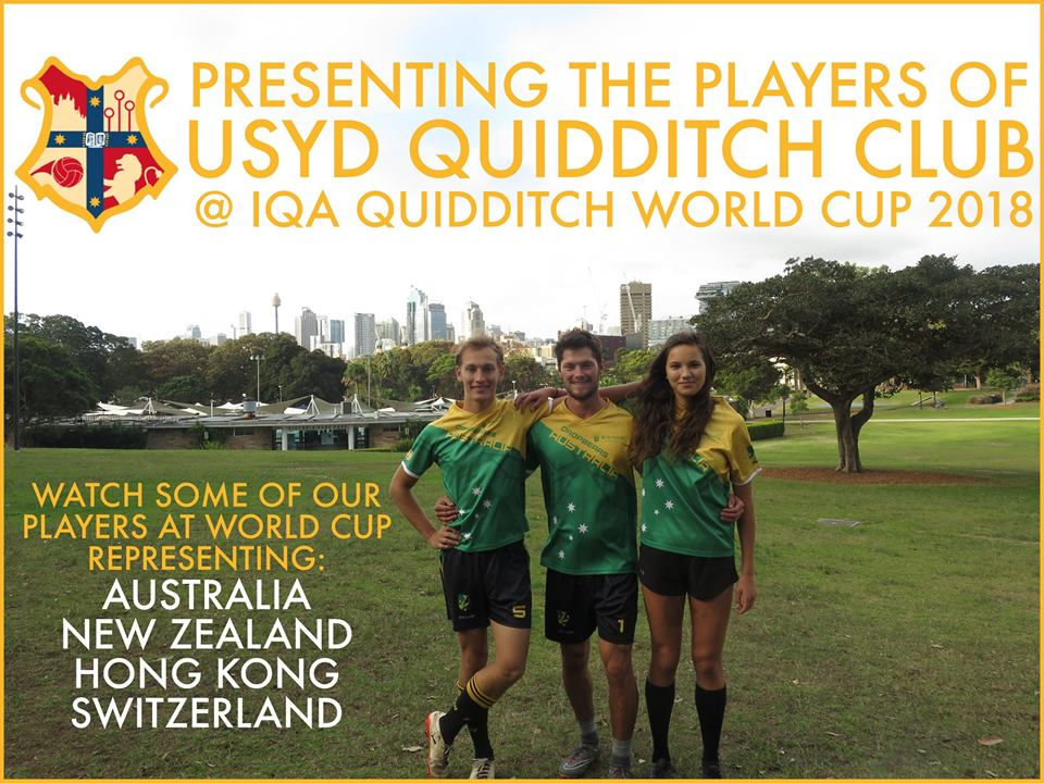 harry jones, brandon frison, and samantha chittenden - three usyd players selected to play for the dropbears in the 2018 world cup.