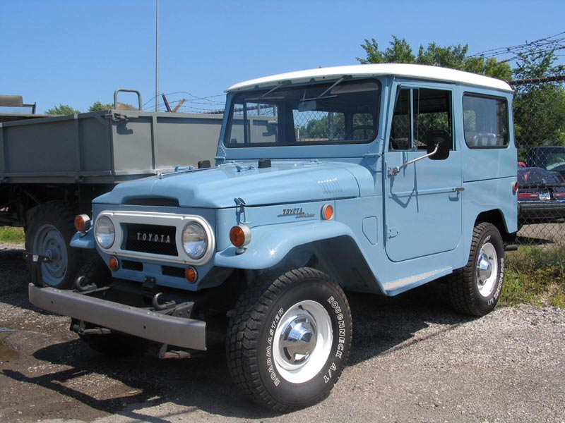My father's vintage Toyota Land Cruiser.