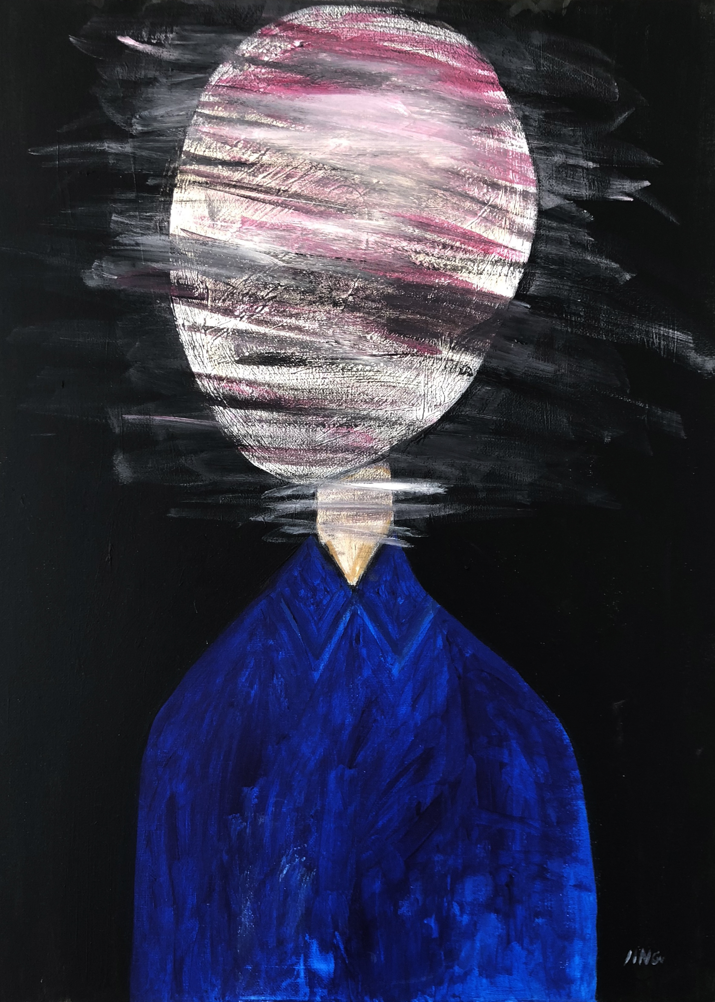daydreaming  acrylic on canvas  45 x 65 cm