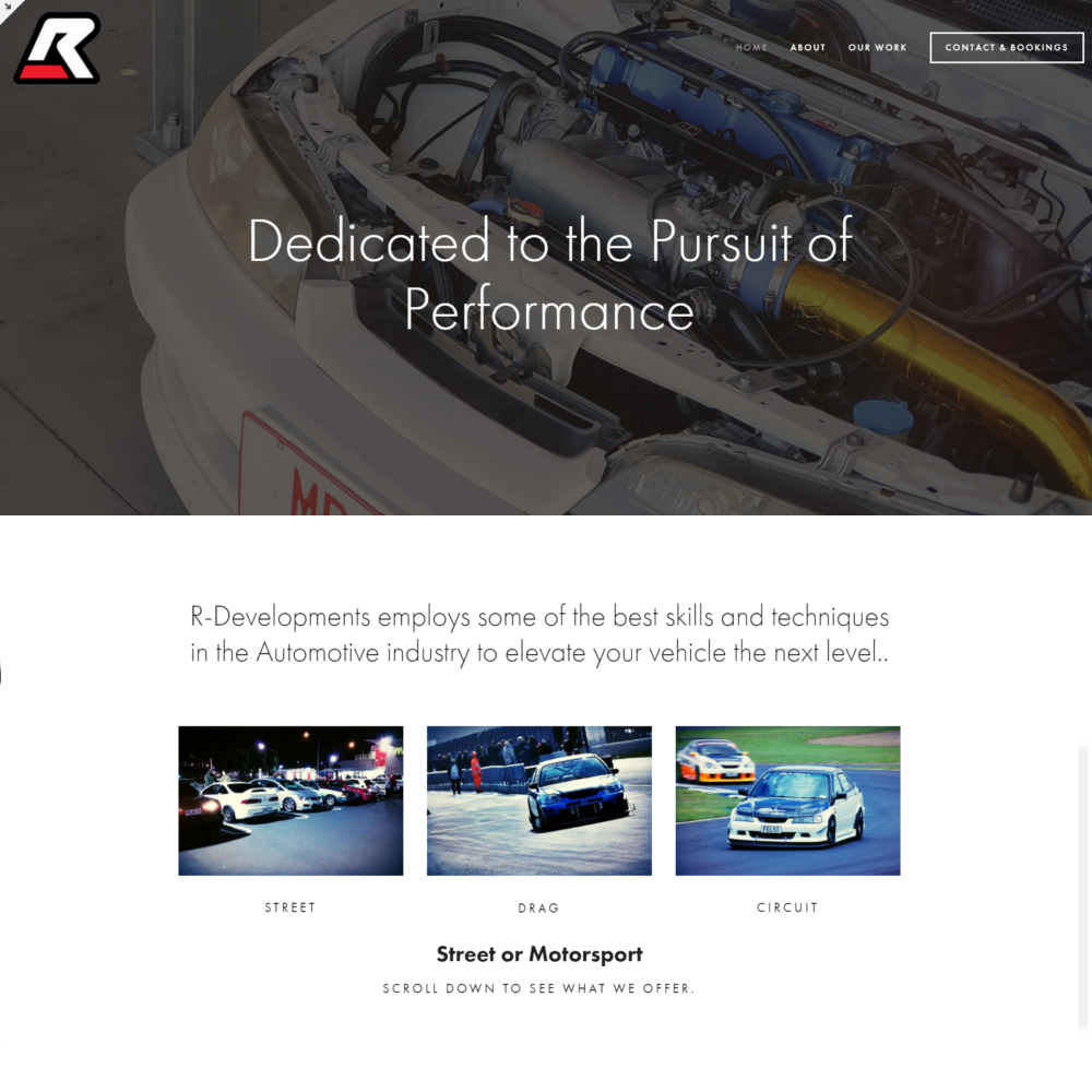 R Developments website