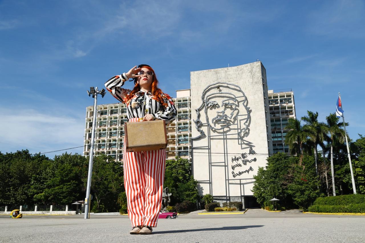 Visiting  Plaza de la Revolucion  (Revolution Square).