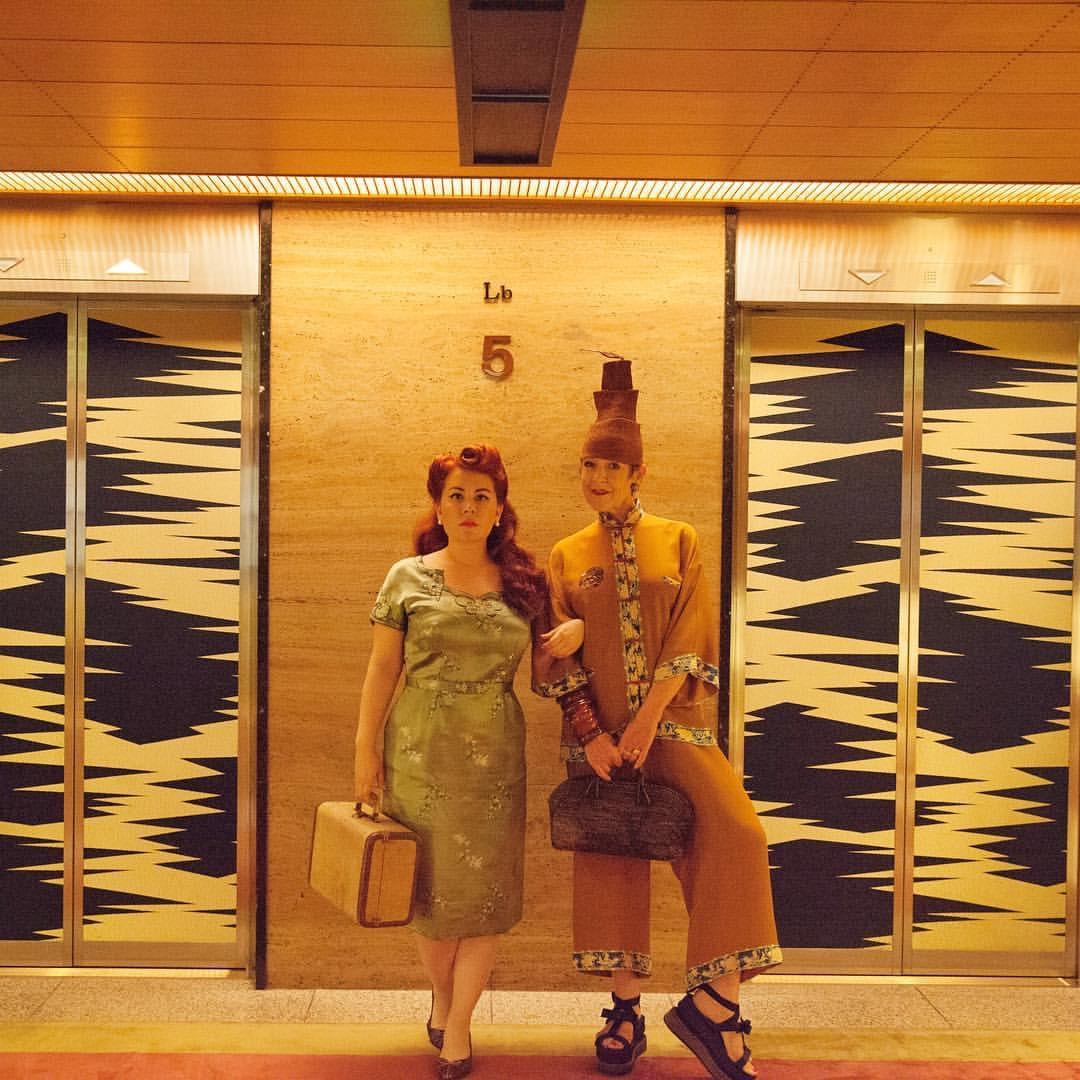 Nicole and Tziporah in the Okura.