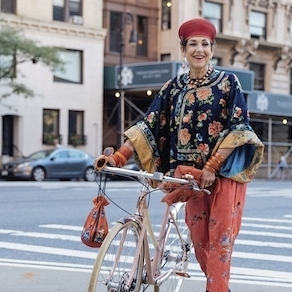 About Tziporah - Tziporah Salamon is a celebrated fashion icon and a favorite muse of the late photographer, Bill Cunningham. She is regularly photographed in the New York press and teaches style seminars titled