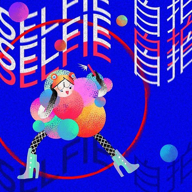 Bubble coat selfie 🔵🔴⚫️📸 . . . . . . . #digitalart #artistsoninstagram #illustration #art #illustration_daily #instaart #design
