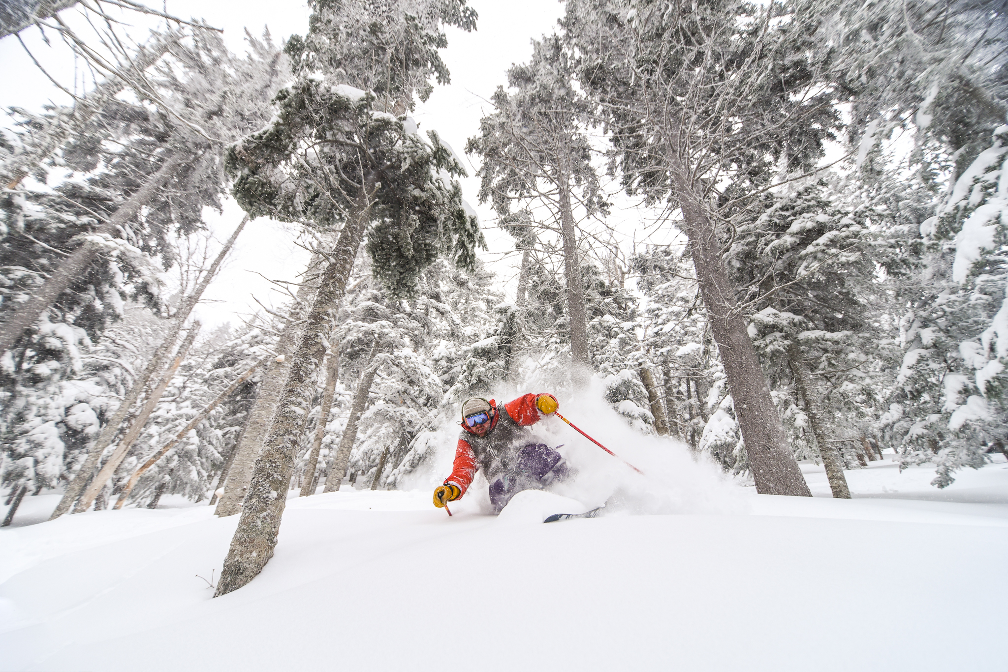 Brackett Basin & Burnt Mountain - Explore hand cut glades featuring both narrow lines and wider expanses. For easy access, Sugarloaf now offers a paid Cat skiing option! Hiking or skinning up is included in your day or season pass (or $10 by itself).