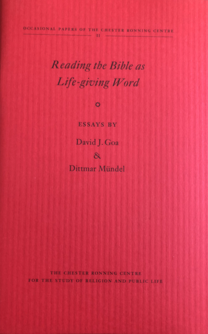 Reading the Bible as Life-Giving Word - (Camrose, Alberta: Chester Ronning Centre, 2013)Free Download
