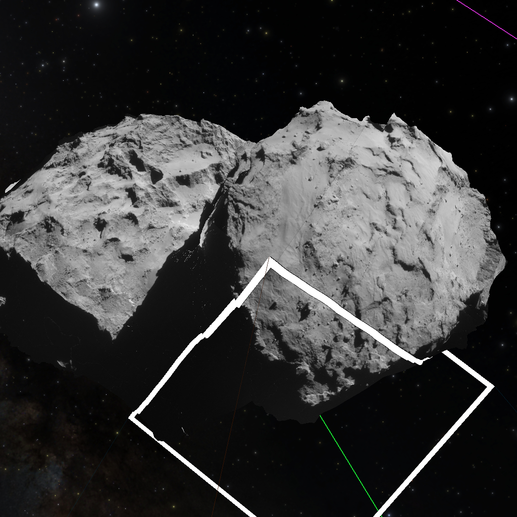 Projecting Rosetta's NAVCAM images onto the 67P/Churyumov–Gerasimenko
