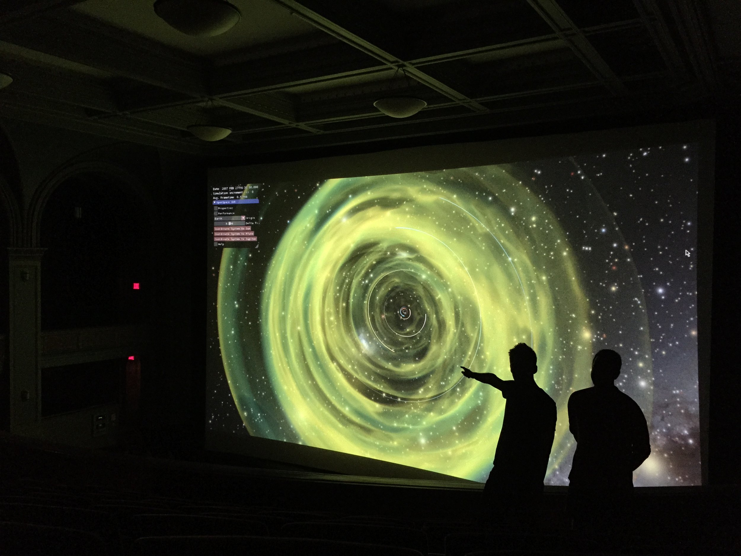 ENLIL Simulation in AMNH's LeFrak theater