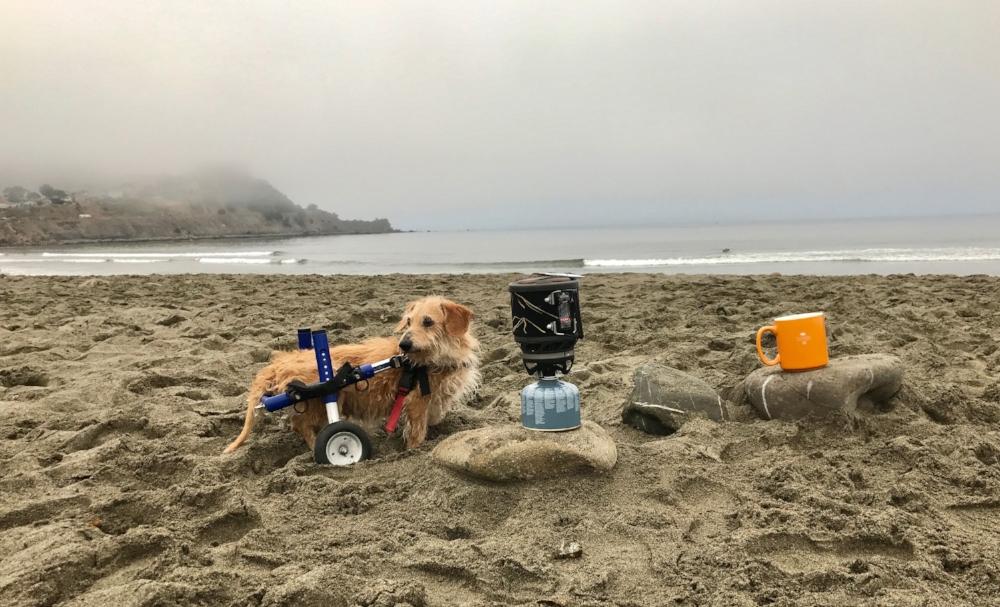 Charlie making beach camp coffee.jpg