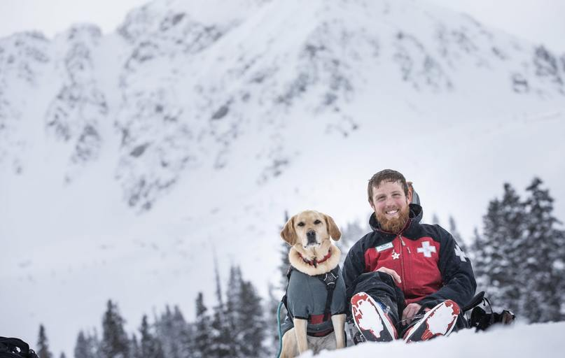 Doug Lesch and one of the Avi Dog heroes of C-RAD. Photo courtesy of Dave Camara and C-RAD