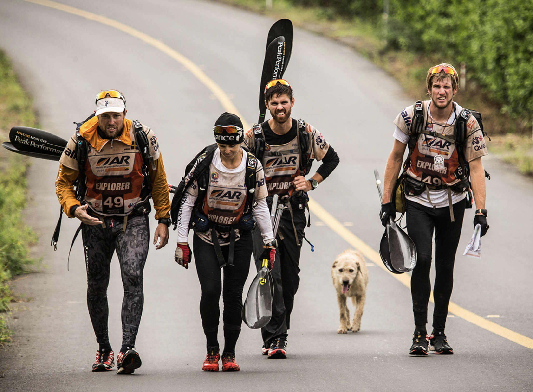 Team Peak Performance Approaching the finish line. Photo credit ESPN
