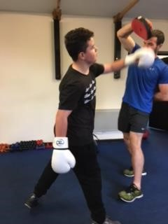 Charlie (year 9) during a boxing session.
