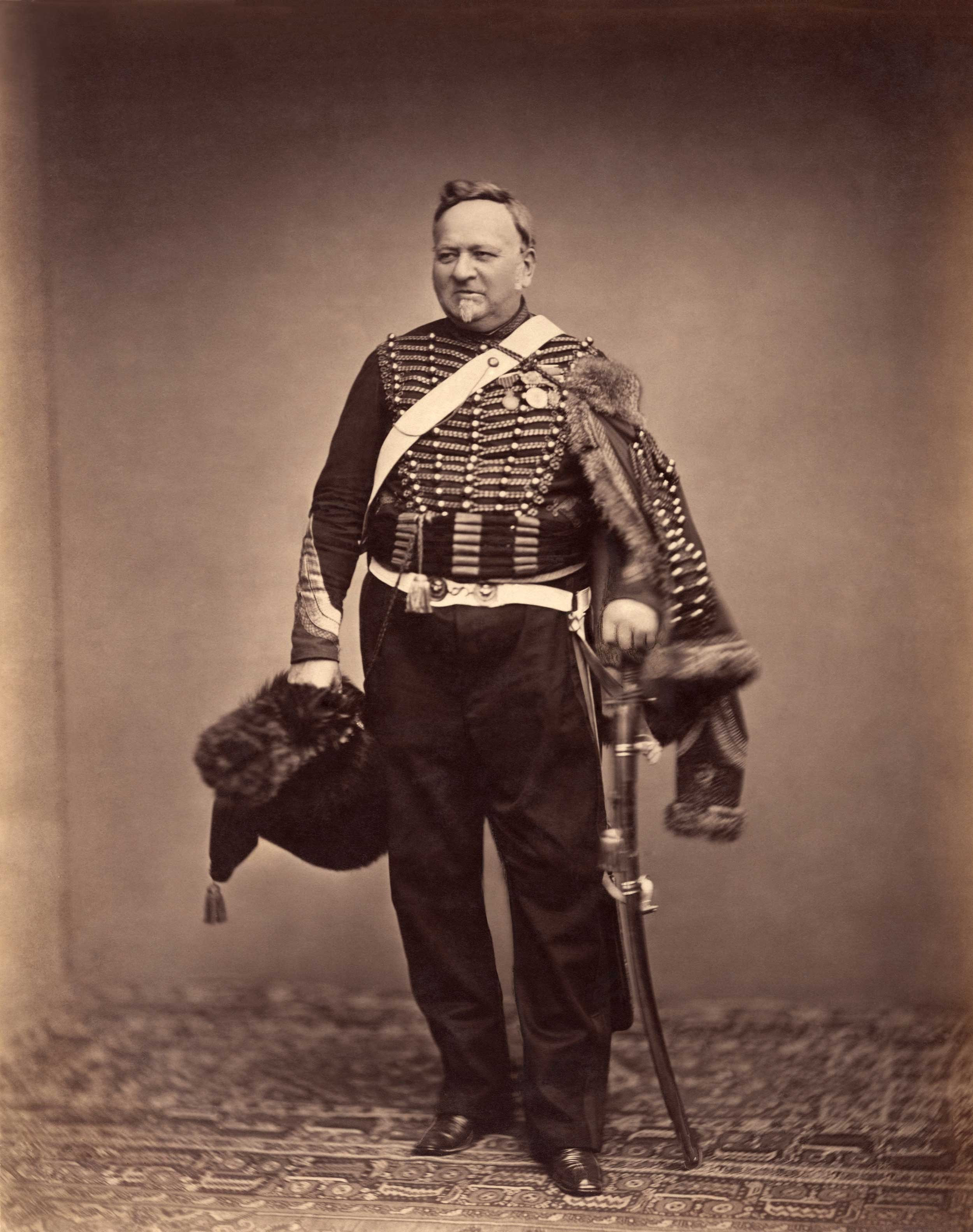 Quartermaster Sergeant Delignon, in the uniform of a Mounted Chasseur of the Guard, 1809-1815