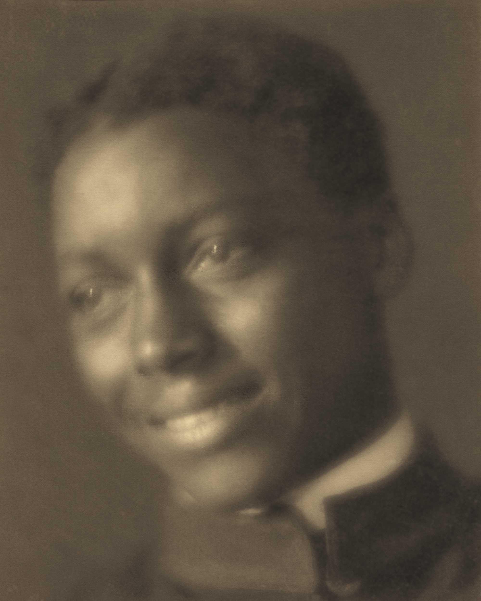 c. 1905: African American man wearing the Hampton Institute uniform