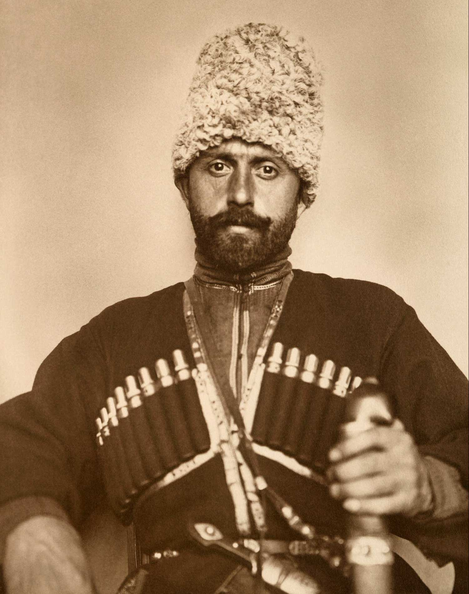 'Cossack man from the steppes of Russia' (c. 1910)