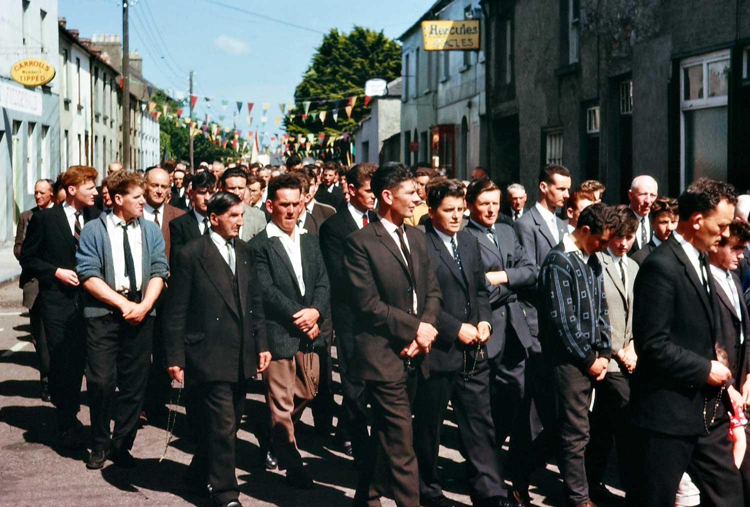 1963: Group of men, Corpus Christi procession, Cahir, Co. Tipperary