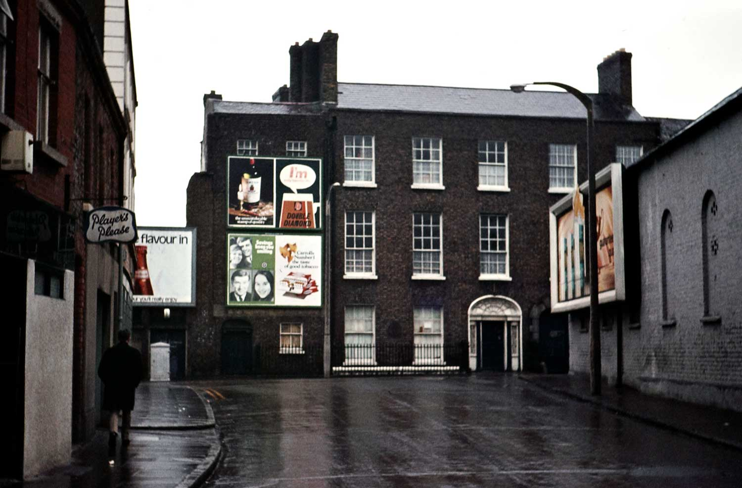 1971: Georgian houses on Ardee Street, Dublin, from Cork Street