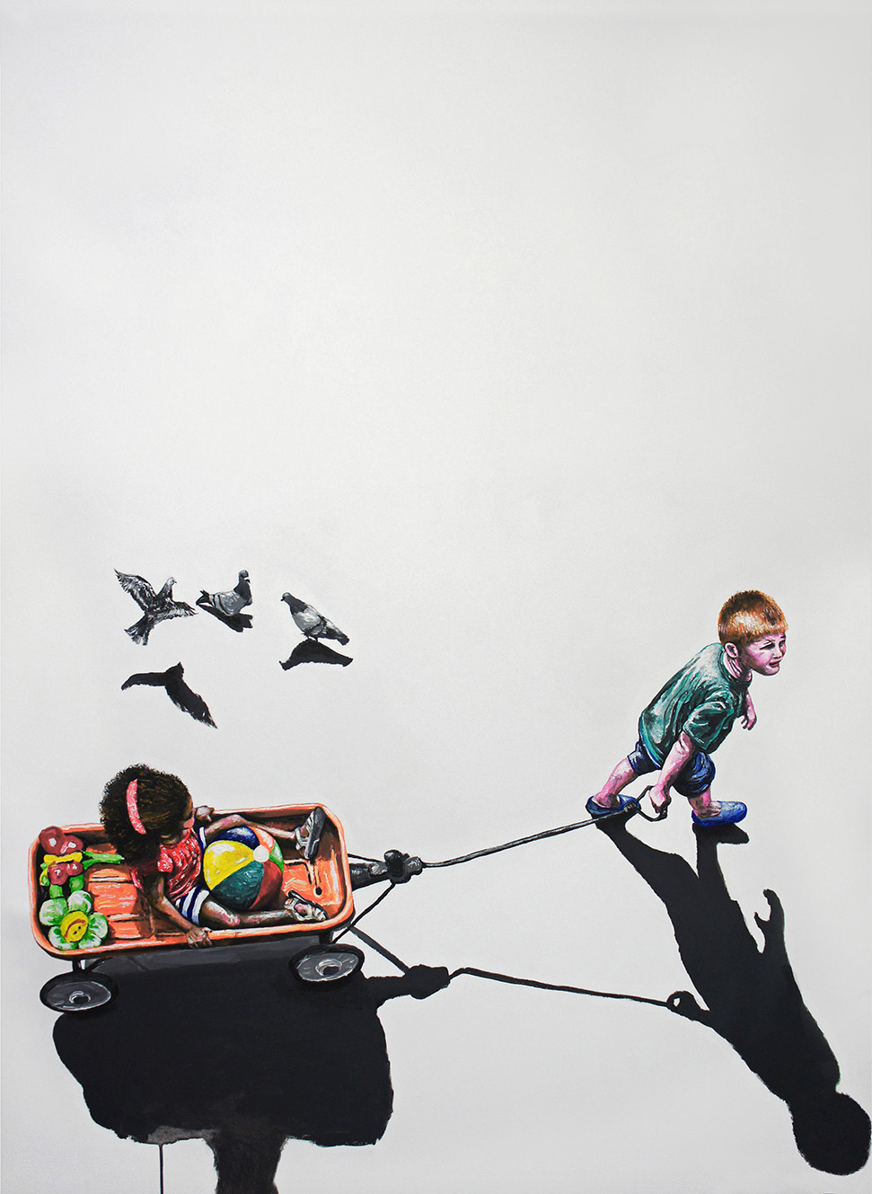Les pigeons (111x145cm)