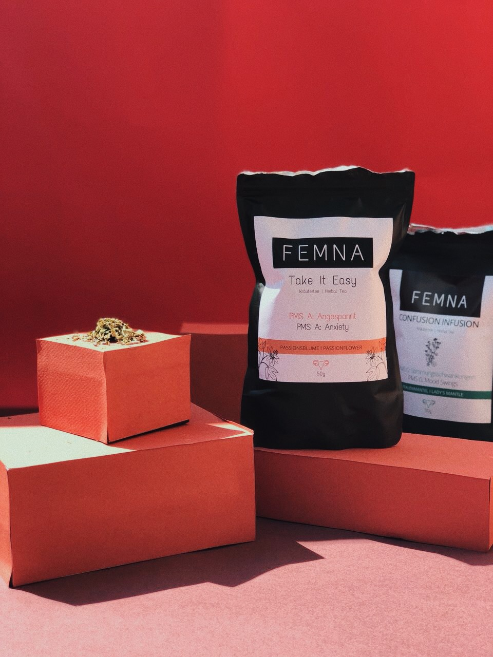 PMS is so real girls! Since we are not friends of taking pills we LOVE femna. Their   teas   are amazing and costumized so whatever your biggest issue is during PMS (anxiety, mood swings, etc) they will have the right one for you. - J