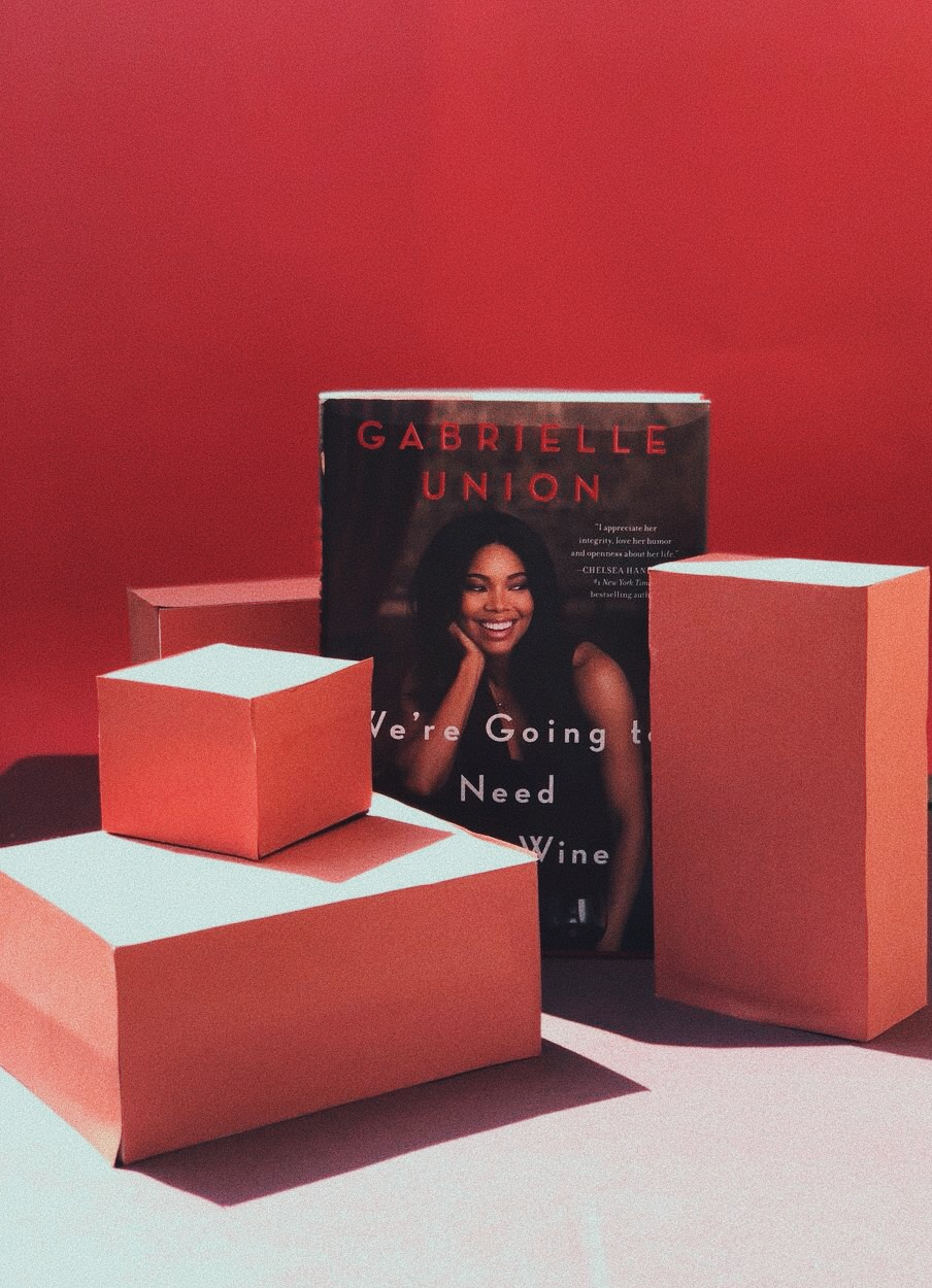 "Ah good book is essential for me during my period, because I really like to be by myself from time to time.   ""We're going to need more wine"" by Gabrielle Union   is such a beautiful read! Funny, witty, moving - this one willl keep you turning pages.- J"
