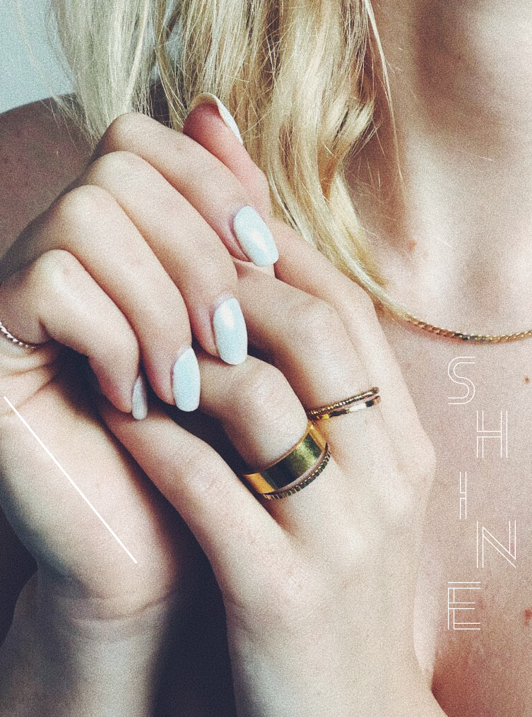 I LOVE STACKING RINGS ESPECIALLY LOADS OF LITTLE ONES. I COMBINE THEM WITH A CHUNKY ONE LIKE THIS SUPER PLAIN ONE. THIN RINGS ARE BY   &OTHERSTORIES   AND THE BIG ONE IS BY TOPSHOP (CURRENTLY IN STORES). - T