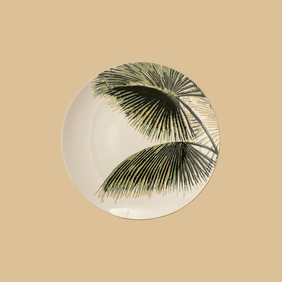 NORMALLY I AM MORE OF A MINIMALISTIC PERSON WHEN IT COMES TO INTERIOR, BUT THESE   PLATES BY BLOOMINGVILLE   ARE GIVING ME VACAY VIBES AND I'M HERE FOR IT! THEY'RE SIMPLY BEAUTIFUL AND WOULD GO PERFECT WITH ANY WOODEN TABLE. - J