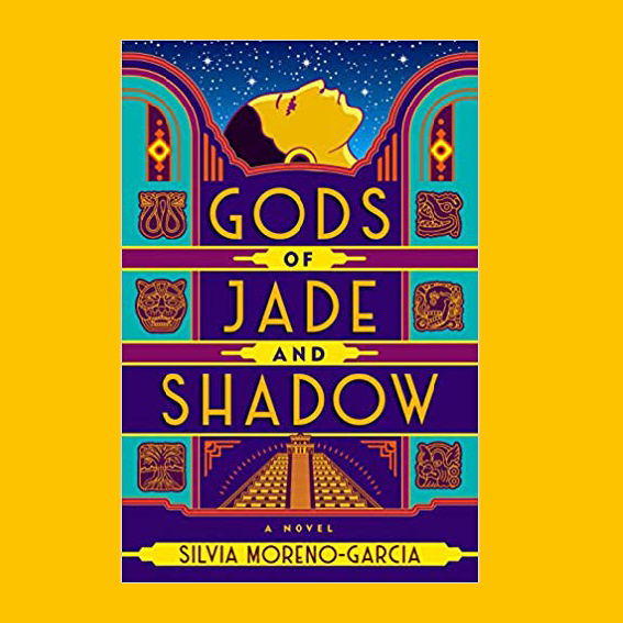 THE STORY OF   GODS OF JADE AND SHADOW   IS ABOUT A GIRL NAMED CASIOPEA, FROM A SMALL SOUTHERN MEXICAN TOWN, WHO ACCIDENTALLY FREES A MAYAN GOOD WHO PROMISES HER EVERYTHING SHE WANTS, IF SHE HELPS HIM RECOVER THE THRONE FROM HIS BROTHER. I WAS MOSTLY DRAWN IN BY THE STORY BECAUSE IT'S SET IN MEXICO AND BECAUSE I'M REALLY INTO FANTASY STORIES IF THEY HAVE A SEMI-HISTORICAL MYSTERIOUS BACKGROUND.  J