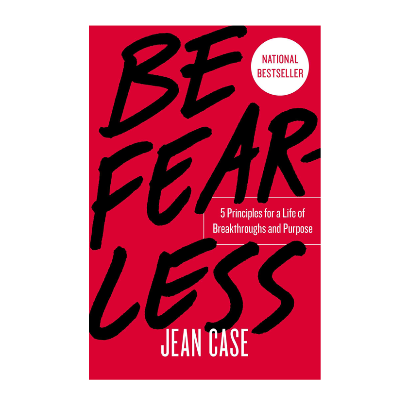 """MELINDA GATES AND TORY BURCH AMONG OTHERS ONLY HAD PRAISE FOR   """"BE FEARLESS"""" BY JEAN CASE  . SO I AM VERY INTRIGUED AND ORDERED IT FOR MY UPCOMING HOLIDAY. THE AUTHOR JEAN CASE IS THE FIRST FEMALE """"CHAIRMAN"""" OF NATIONAL GEOGRAPHICS AND IS A PHILANTHROPIST AND AN INVESTOR ALSO. SHE PROMISES 5 PRINCIPLES TO LIVE A BREAKTHROUGH LIFE. SHE EXPLAINS HOW TO TAKE THE BOLDEST CHOICES, TO RISK AND HOW TO LEARN FROM FAILURE. SIGN ME UP, PLEASE. WHAT I AM HOPING HERE? TO BECOME MORE BADASS AND CARE LESS. - T"""