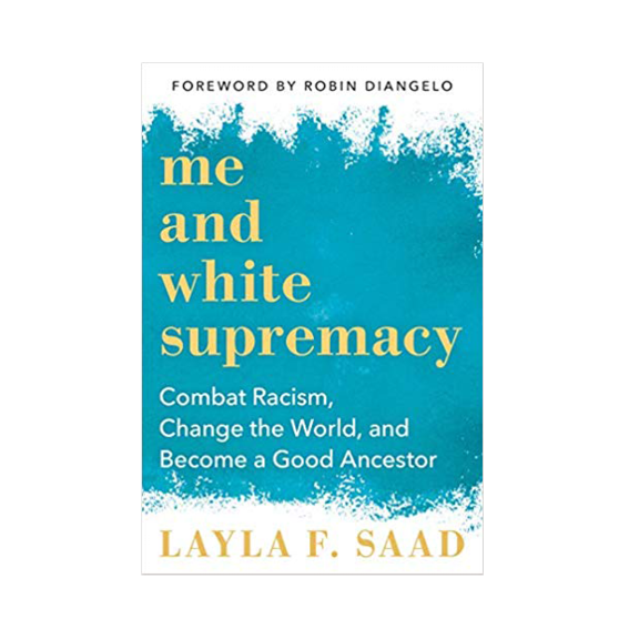 """YES, YES, AND YES! WE ALL NEED TO READ   """"ME AND WHITE SUPREMACY' BY LAYLA F. SAAD  , WHICH WAS PREVIOUSLY A WORKBOOK TO DOWNLOAD ON HER WEBSITE. AND NOW IT'S BEING RELEASED WITH EVEN MORE CONTENT. THE TITLE SAYS IT ALL: COMBAT RACISM, CHANGE THE WORLD, BECOME A GOOD ANCESTOR. WE MUST BECOME MORE AWARE OF OUR PRIVILEGES AND WE MUST STOP NOT SEEING THEM AND WE MUST PUT OUR UNDERSTANDING INTO ACTION. WE MUST UNDERSTAND THE WHITE SUPREMACY THAT IS ROOTED IN ALL WHITE PEOPLE AND LAYLA'S BOOK IS THE TOOL TO GET BETTER AND DO BETTER. SHE IS ONE OF THE GREATEST EDUCATORS OF OUR TIME. LAYLA IS UNAPOLOGETICALLY CONFRONTING ALL THESE ISSUES AND WE CAN LEARN SO MUCH FROM HER. IT'S DROPPING FEBUARY 2020, BUT WE ARE TEAM PRE-ORDER. - T"""