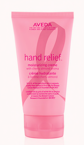 THE AVEDA HAND RELIEF CREAM IS ICONIC – ESPECIALLY THEIR   BCA LIMITED EDITION  . AND YES, IT'S DEFINITELY ONE OF THE BEST HAND CREAMS OUT THERE. THIS YEAR, THEIR COMING OUT WITH A CHERRY-ALMOND SCENT AND 5 EURO/DOLLAR/POUNDS OF EVERY PURCHASE WILL BE DONATED TO A BREAST CANCER AWARENESS CHARITY IN THE COUNTRY OF PURCHASE.
