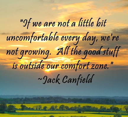 if we are comfortable, we are not stretching ourselves to achieve more in life. if we are too comfortable we aren't doing anything that matters. everything we wish for lies outside of our comfort zone.