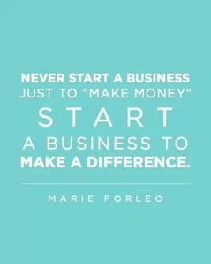 money doesn't equal fulfillment. instead aim to create a profit from your purpose and/or passion.