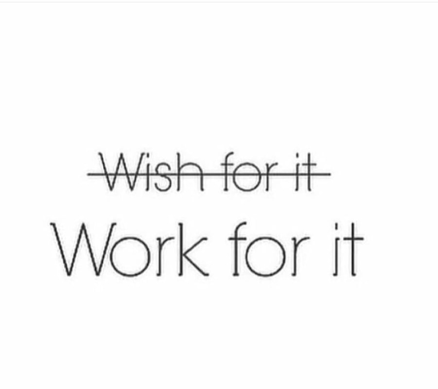 wishing and dreaming it won't create results. intentionally working towards it will.