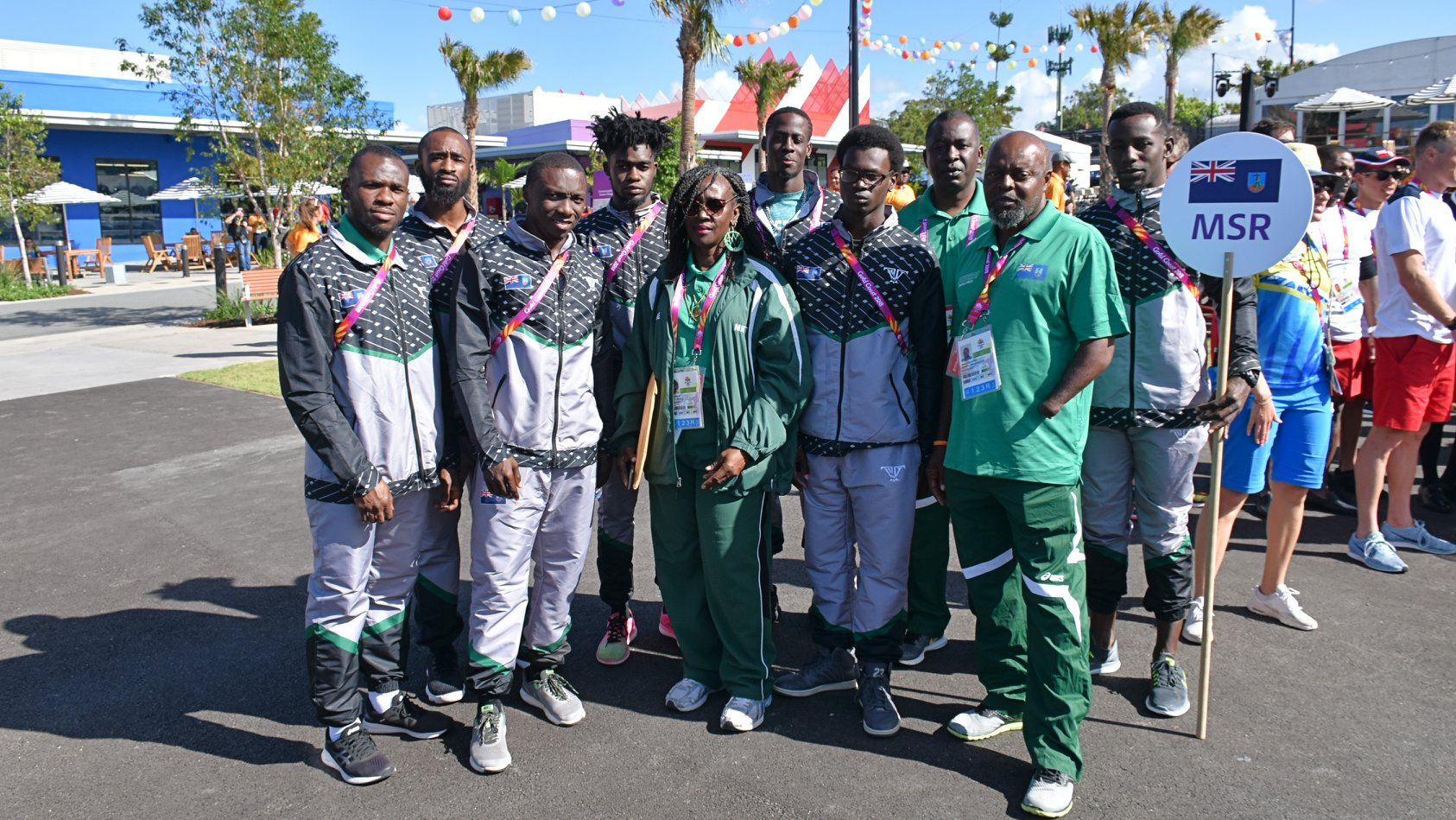 Team Montserrat at the Gold Coast for the 2018 Commonwealth Games