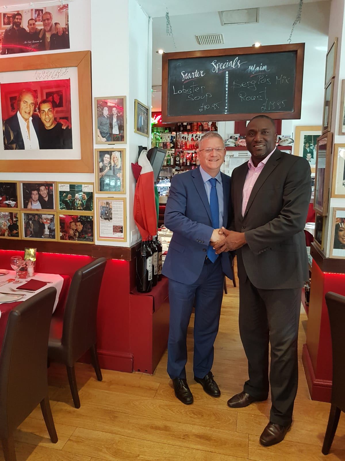 The Honourable Premier with Andrew Rosindell