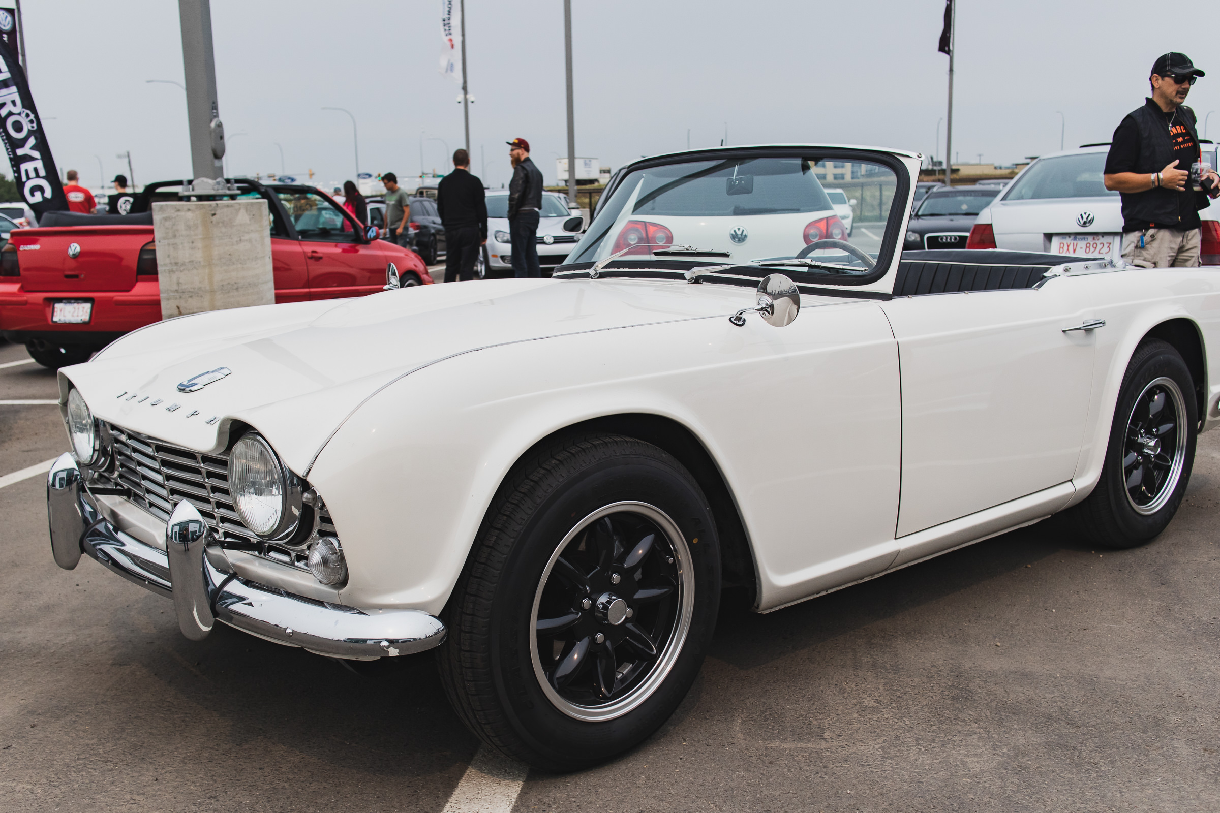 1965 Triumph TR4. Elegant, stylish, and can win a car limbo contest like a champ.