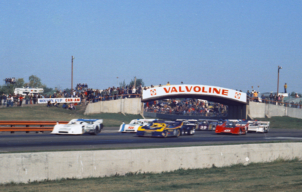 Can-Am race at Edmonton International Speedway, 1973. Fred Young
