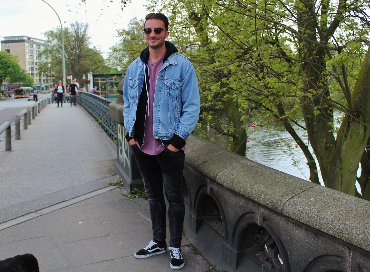 Men Street Style - Denim Look