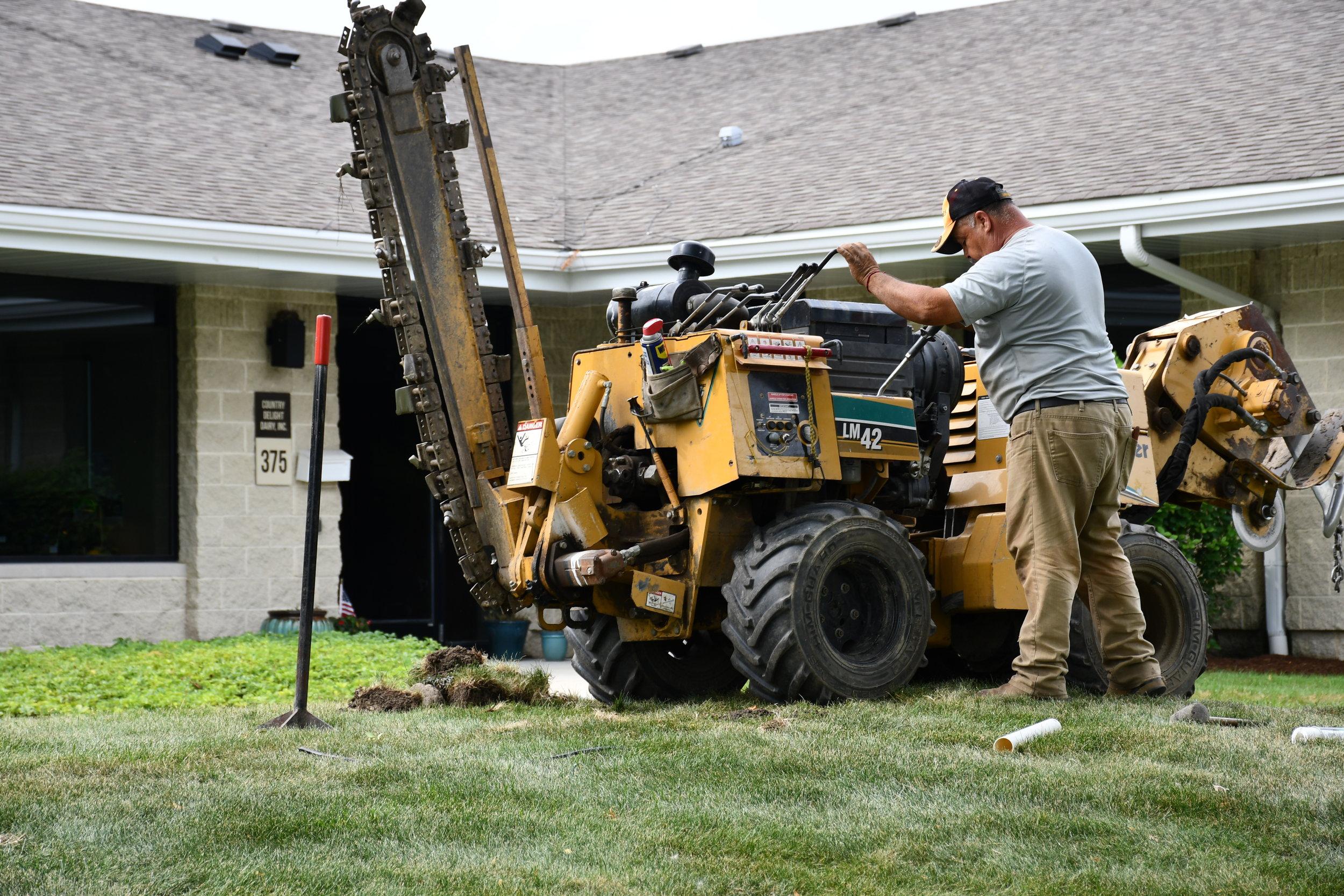 Westmont Sprinkler Project - July 2018, Carefree Lawn Sprinkler Inc., helped install a commercial sprinkler systems in Westmont, IL