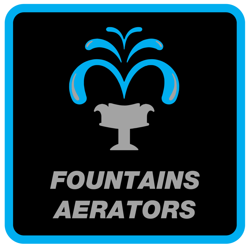 Fountain Aerators Services - Aerators create oxygen in the water which is an important part of your pond or lakes eco-system. They continuously circulate or