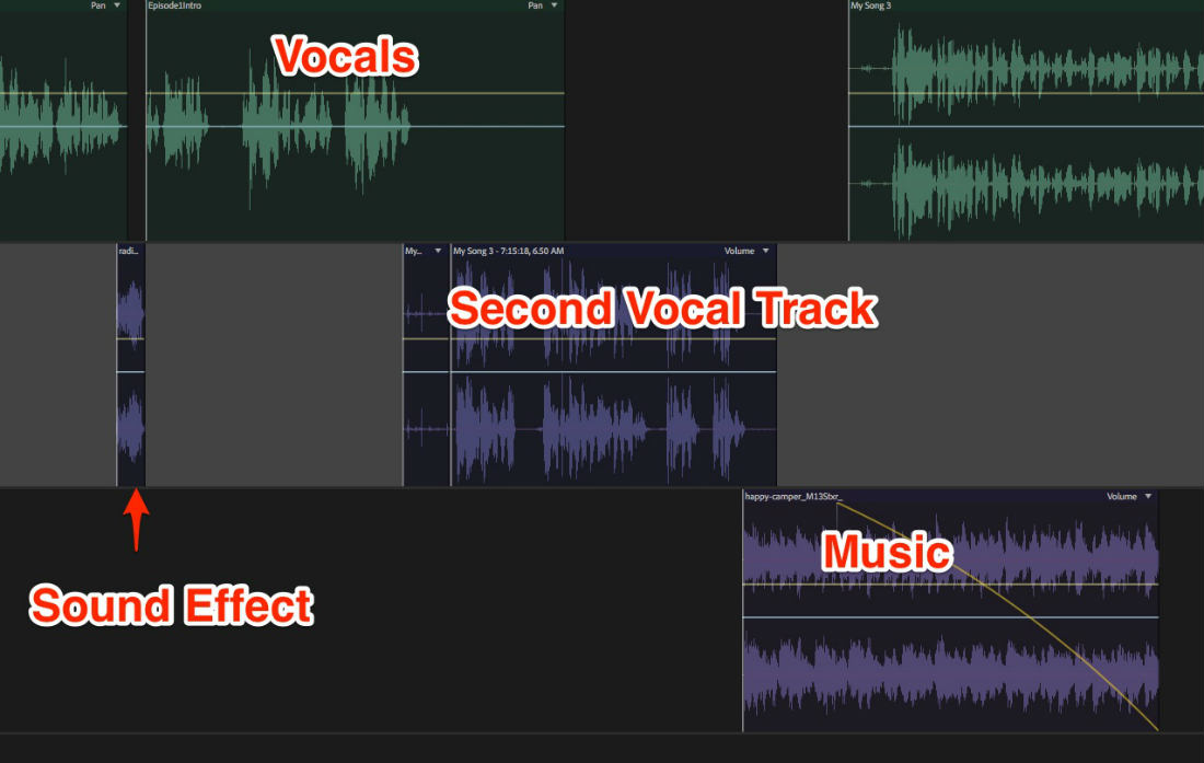podcast mixing in Adobe Audition