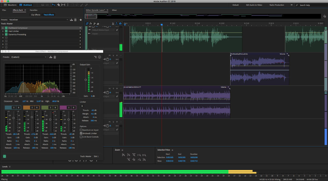 Adobe Audition's price puts it out of reach for many podcasters just getting started. However, if you are ready to invest in a pro-level tool to improve your quality and workflow, Adobe Audition is a great choice.
