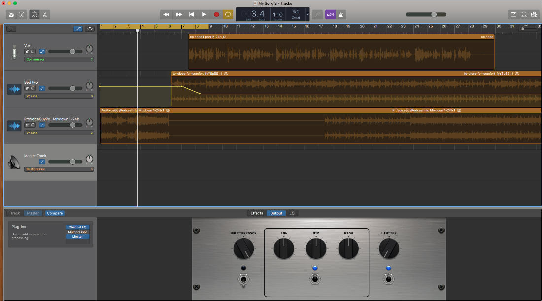 If you work on a Mac and you want to get your podcast started fast, GarageBand is an amazing free piece of software from Apple that is likely already on your system.