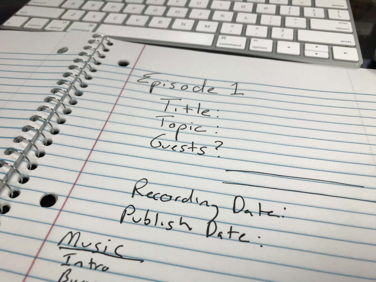 Creating a workflow for your podcast can save you time while creating each episode.