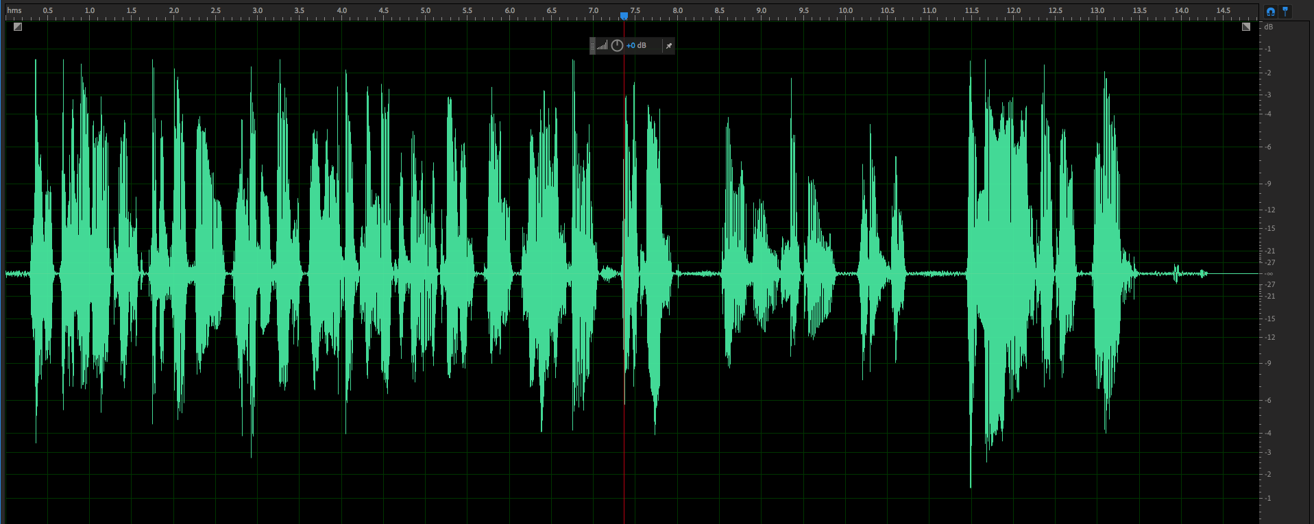 The same sample, now with compression applied.