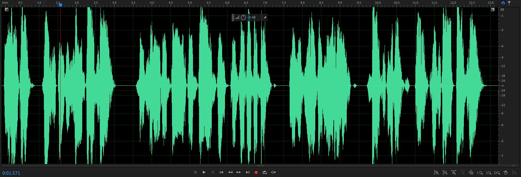 peaks exceeding 0 DB in Adobe Audition