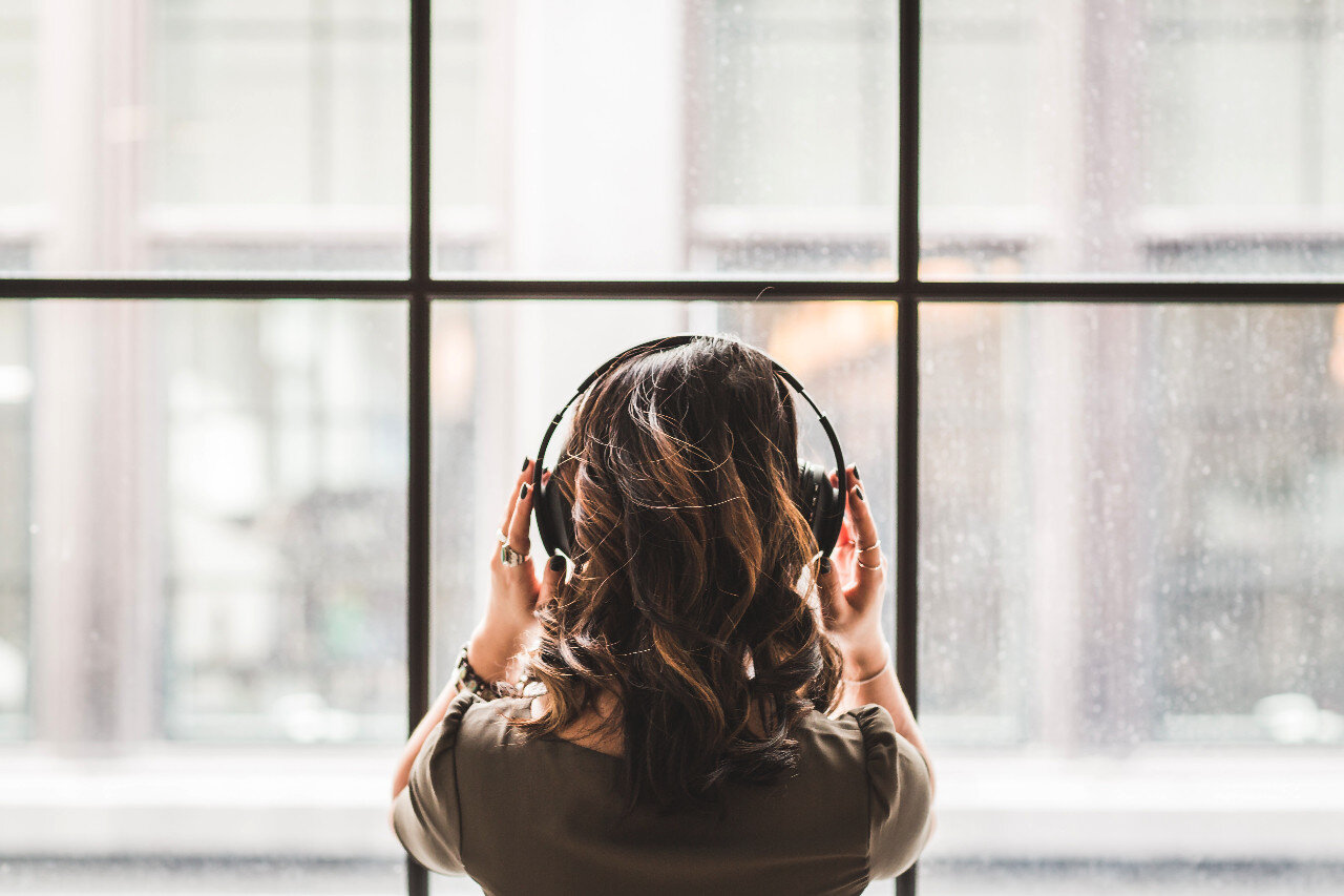 Is this woman listening to your podcast outro?