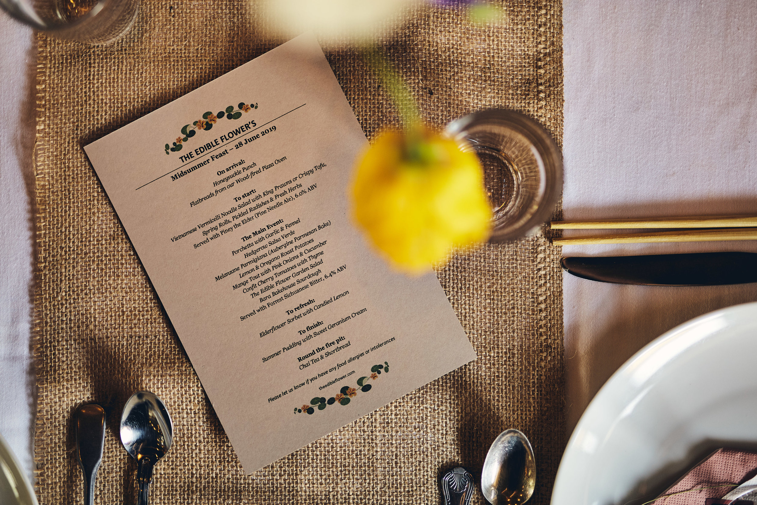 Midsummer Feast menu