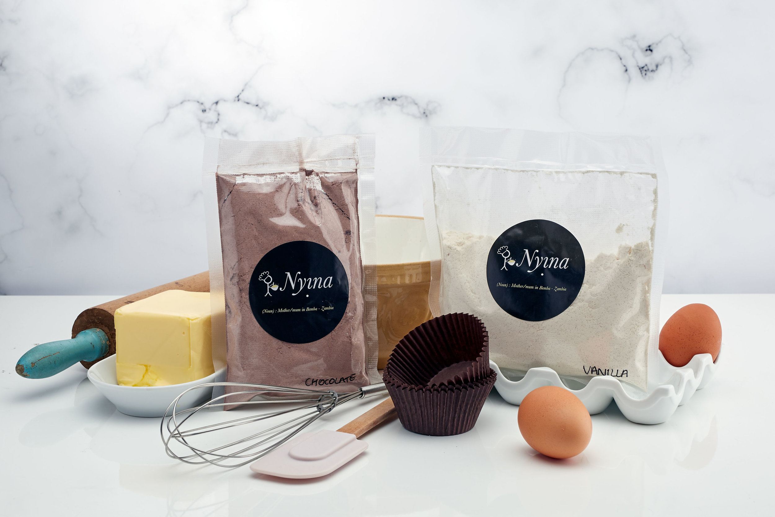 Nyina chocolate and vanilla cake mixes